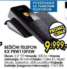 Bežični telefon Kx Prw110fxw
