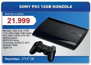 Konzola PS3 12Gb