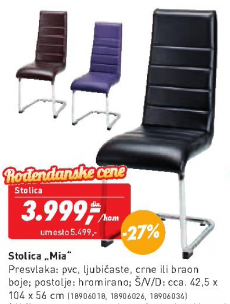 Trpezarijska stolica Mia