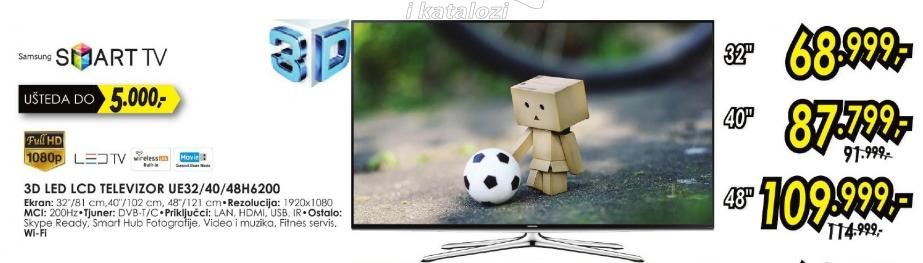 """Televizor LED 48"""" 3D Ue 48h6200"""