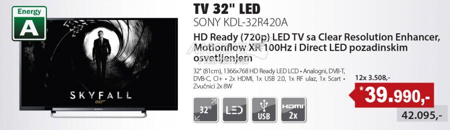 LED Televizor KDL-32R420A
