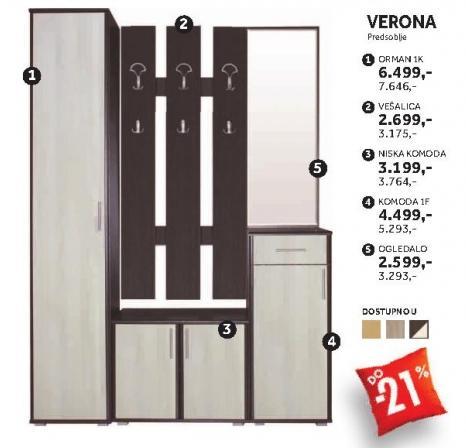 Element predsoblja Ogledalo Verona