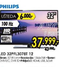 Televizor LED LCD  32PFL3078T/12