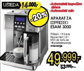 Aparat za espresso Esam 3000 + Poklon 1kg Doncafe