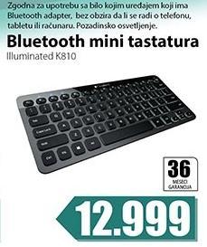 Bluetooth mini tastatura Illuminated K810