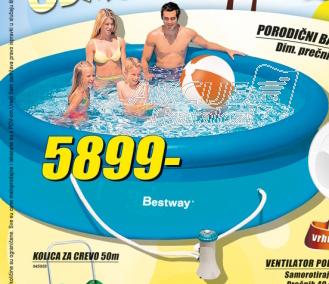 Porodični bazen Bestway + pumpa