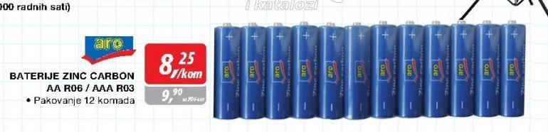 Baterije zinc carbon