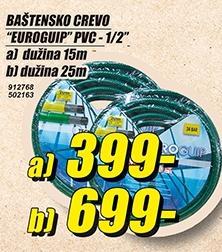 Baštensko crevo Euroguip PVC 1/2 15m