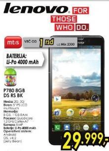 Mobilni telefon P780 8Gb DS Rs Bk