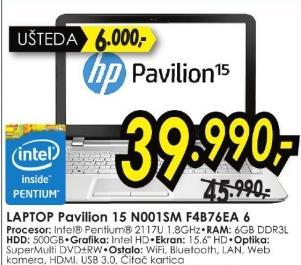 Laptop Pavilion 15 N001sm F4b762ea 6