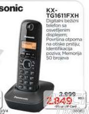 Bežični telefon KX-TG1611FXH