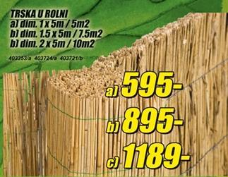 Trska u rolni 1.5 x 5m/7.5m2