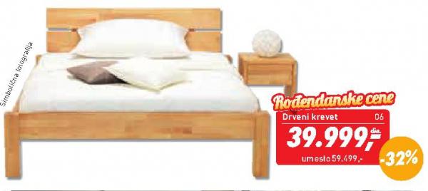 Drveni krevet Carola