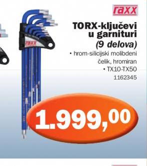 TORX ključevi garnitura