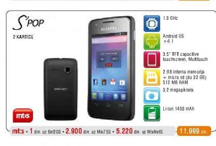 Mobilni telefon  OT4030 S Pop
