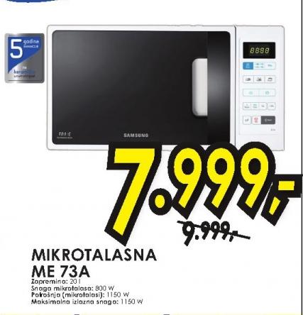 Mikrotalasna rerna ME-73A