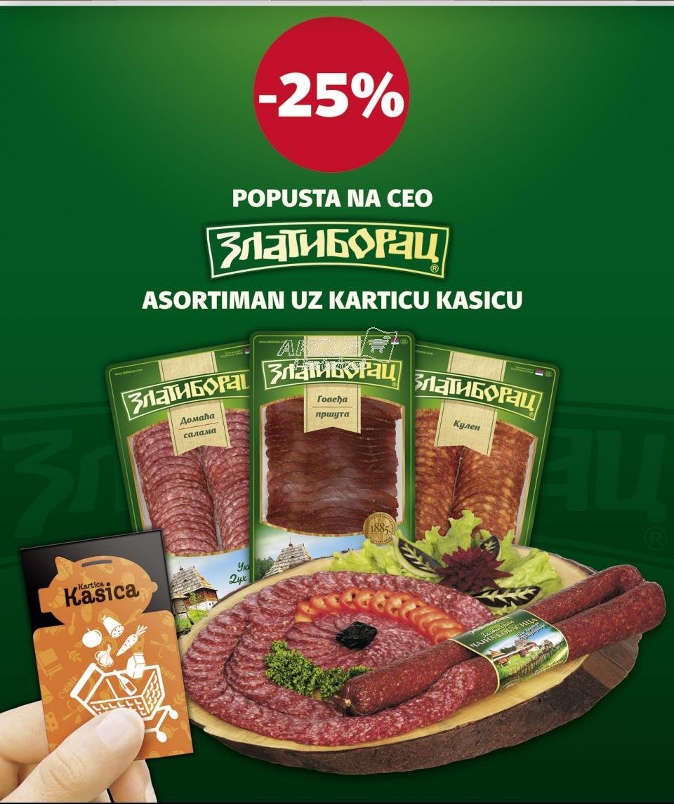 25% popusta na Zlatiborac asortiman uz Karticu kasicu