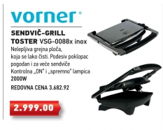 Grill Toster VSG-0088x inox