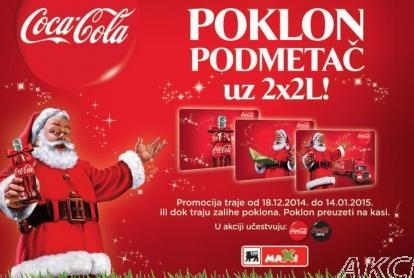 Poklon podmetač uz Coca Colu