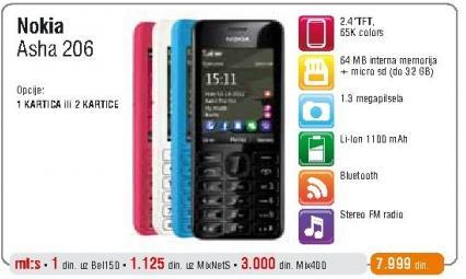 Mobilni telefon Asha 206