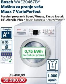 Mašina za pranje veša Maxx 7 VarioPerfect Wae20467by