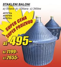 Stakleni balon 10l