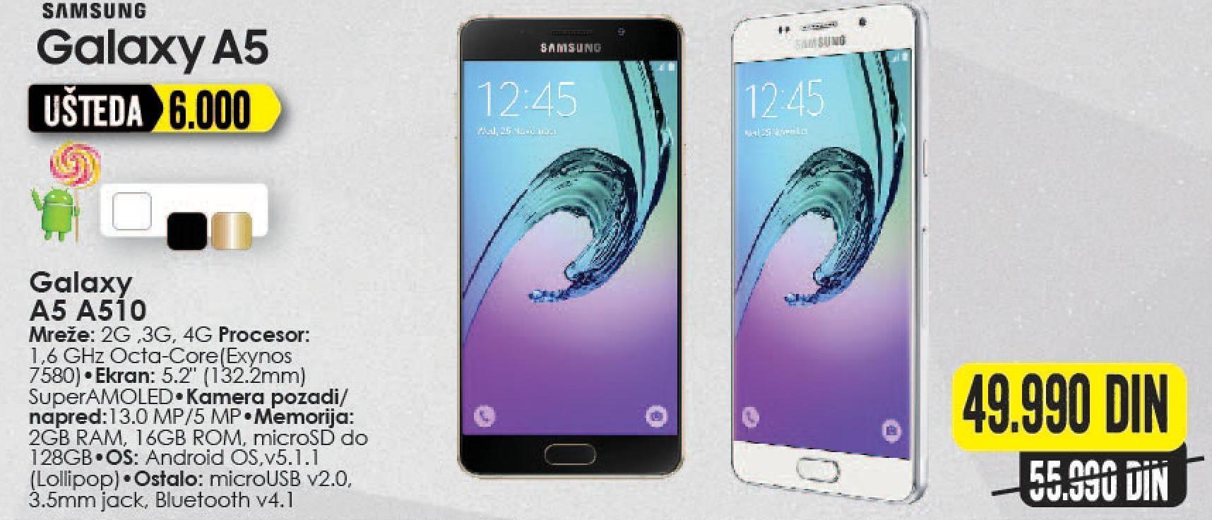 Mobilni telefon Galaxy A5 A510