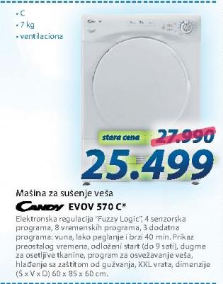 Mašina za sušenje veša EVOV 570 C
