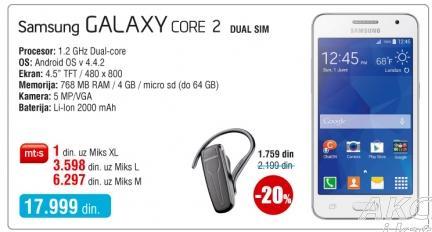 Mobilni telefon Galaxy Core 2