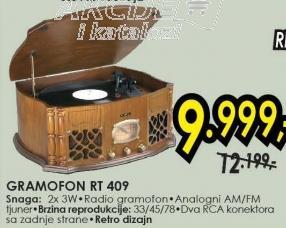 Radio gramofon Rt 409