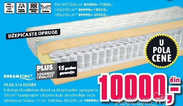 Dušek Plus S15 160x200