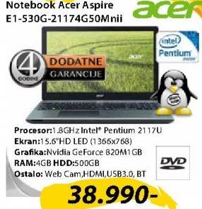 Laptop E1-530G-21174G50Mnii