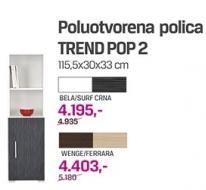 Poluotvorena polica Trend pop 2, wenge/ferrara