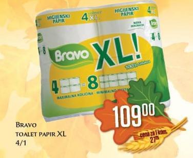 Toalet papir Bravo XL