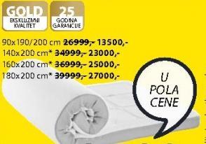 Naddušek Gold T110 90x190/200 cm