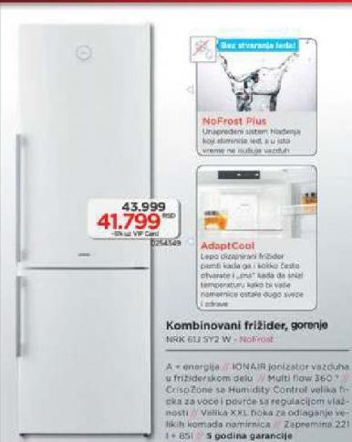 Kombinovani frižider NRK 61J SY2 W