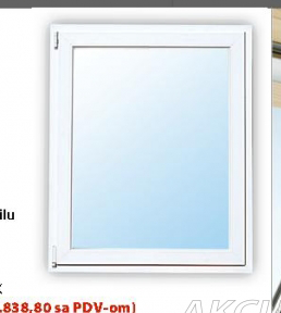 Pvc Prozori, Jednokrilni 80x140cm,