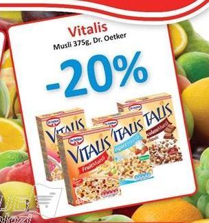 20% popusta na Vitalis musli 375gr