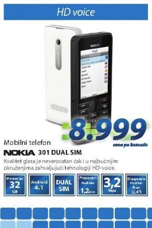 Mobilni telefon 301 DUAL SIM