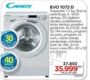 Mašina Za Veš EVO 1072 D