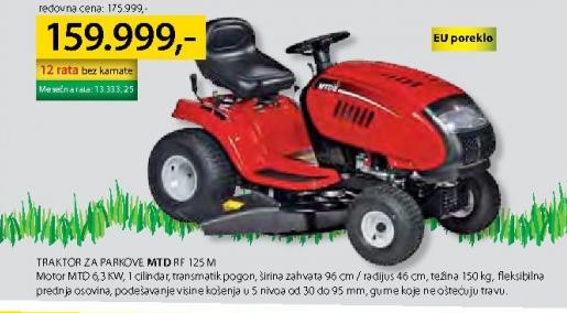 Traktor za parkove RF 125 M