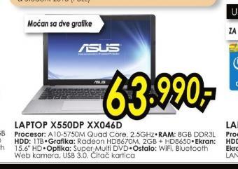 Laptop X552VL-SX016D