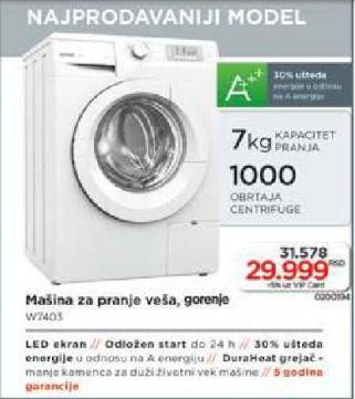 Mašina Za Pranje Veša W 7403