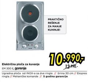Električna ploča za kuvanje Em 300 E