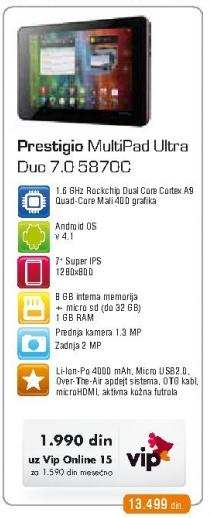 Tablet MultiPad Ultra Duo 7.0 5870c