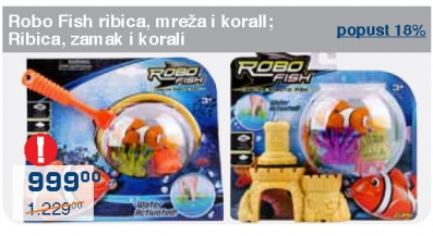 Robo Fish ribica, zamak i korali