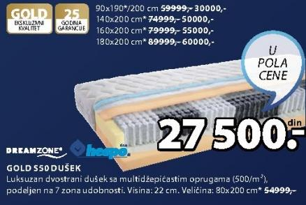 Dušek Gold S50 140x200cm