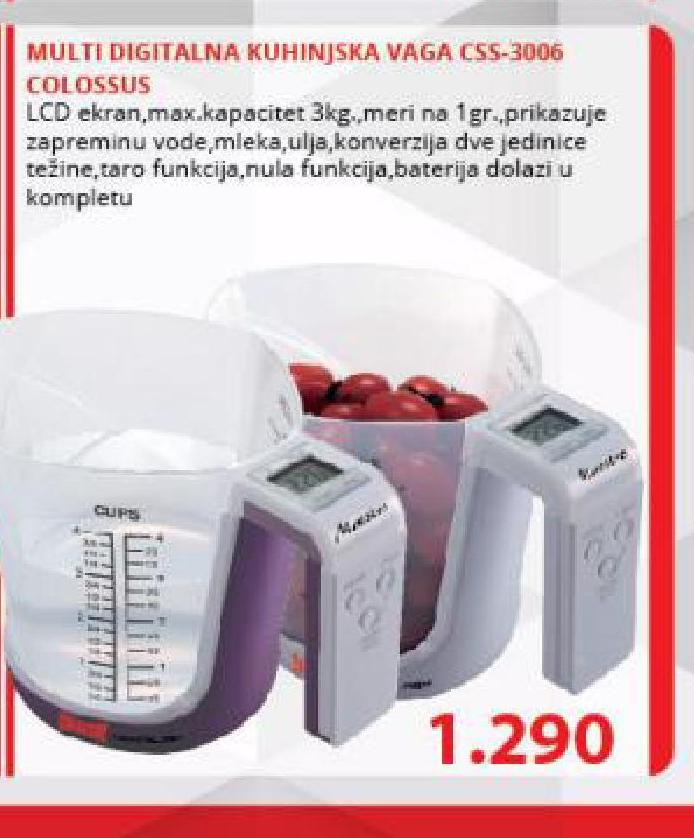 Kuhinjska vaga CSS-3006