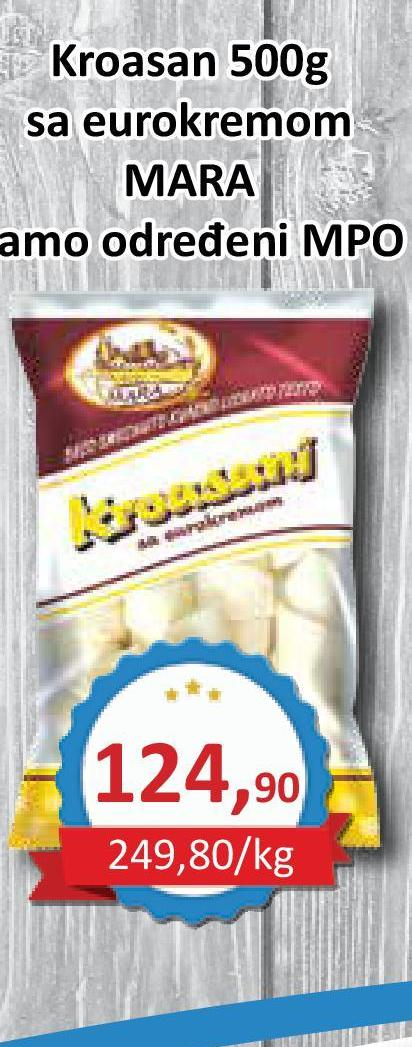 Smrznuti kroasan eurokrem