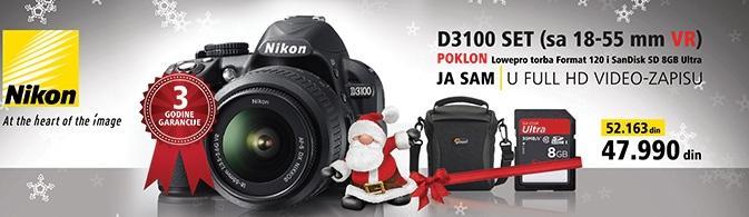 Foto aparat  D3100 set